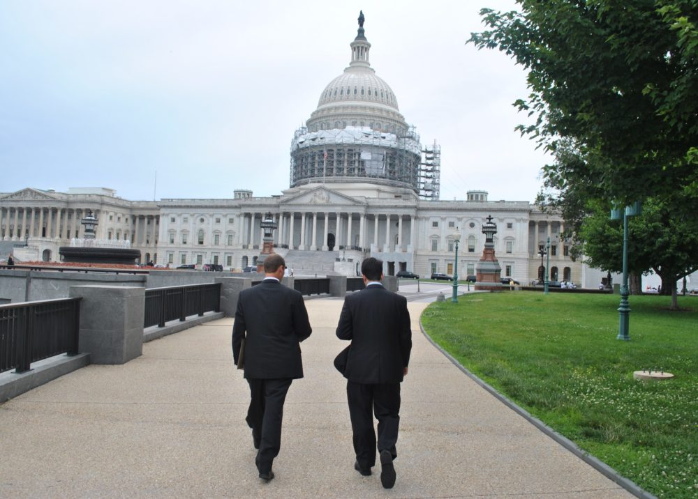 Kentucky Farmer Will Bowling with NSAC staff on Capitol Hill. Photo credit: NSAC.