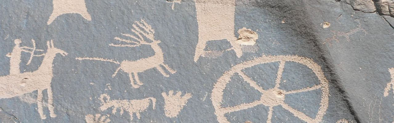Petroglyphs at V-V Ranch