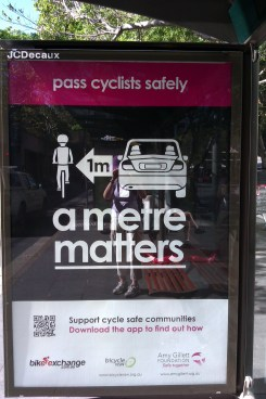 Pass cyclists safely poster - Sydney - April 2013