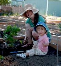 Mills Community Garden family fun