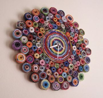 This clock was made out of rolled up recycled paper! (Image courtesy of Google Images)