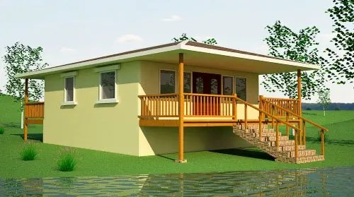 Earthbag beach house