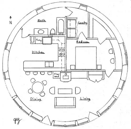 10m Earthbag Roundhouse