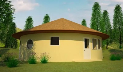 Two-Bedroom Earthbag Roundhouse