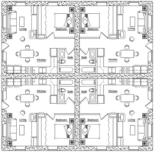 Fourplex Plan