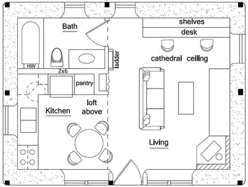 Green House Floor Plan