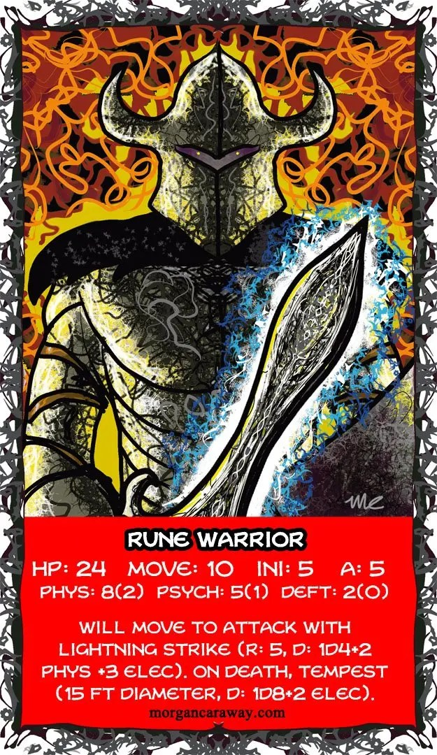 Rune Warrior Card