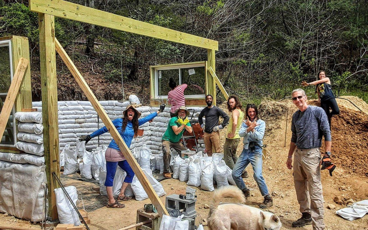 Earthbag Tiny House Workshop 3