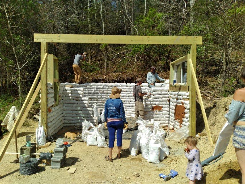 Earthbag Tiny House Workshop 2