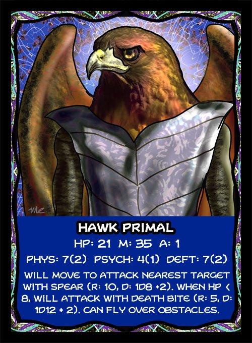 Hawk Primal Card