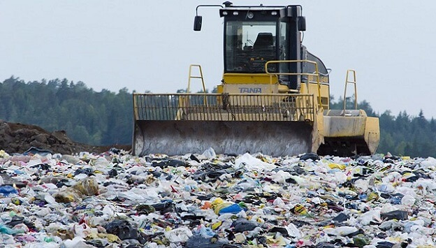 Styrofoam takes up space in landfills