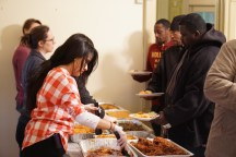community center, welcome dinner, photos by Ira Yousey