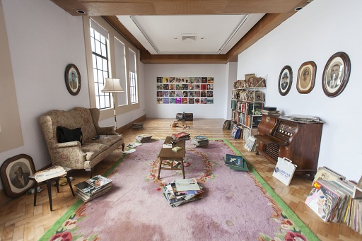 Kay Hassan, My Father's Music Room, 2007-2008, mixed media, installation view