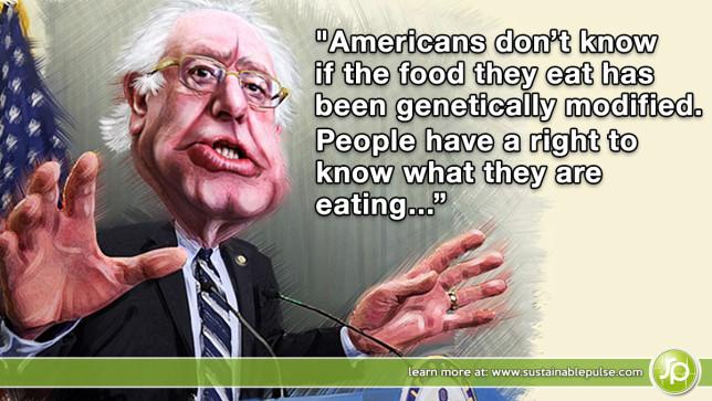 Bernie Sanders GMO LABELING