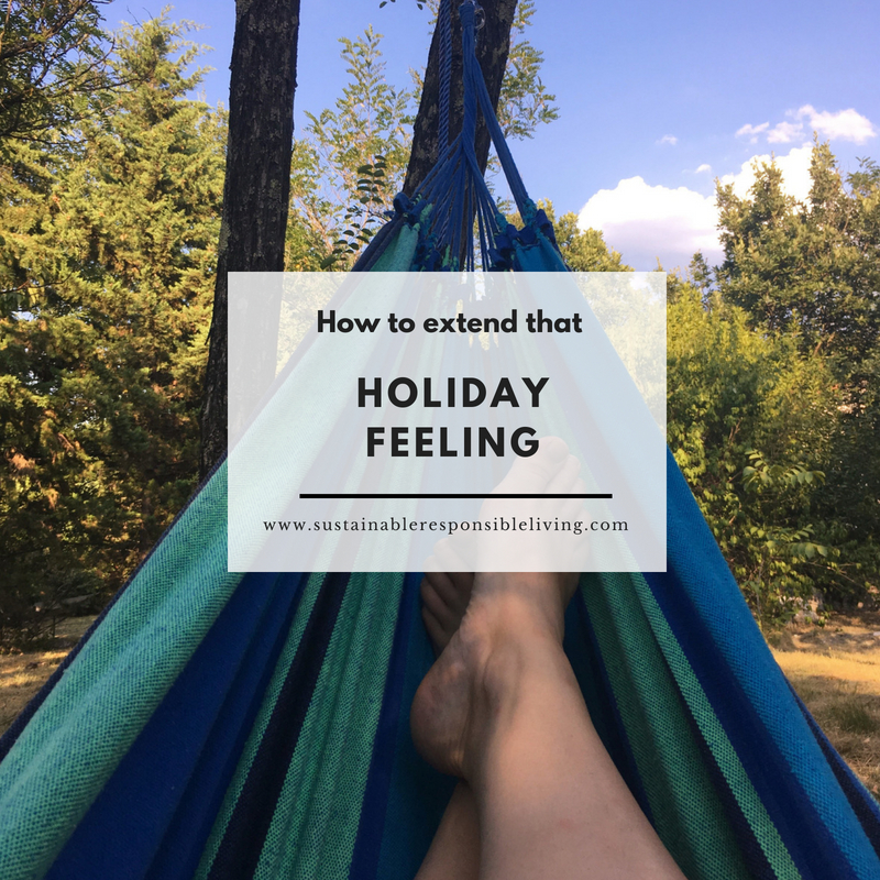 How to extend that holiday feeling, hammock