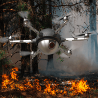Drones to the rescue during the wildfires