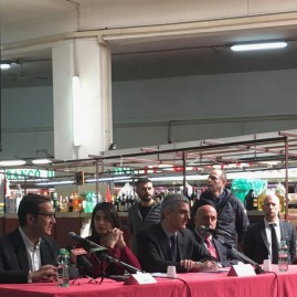 Press conference with Mayor Raggi and Adriano Meloni