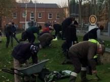 digging in Verulmaium Park