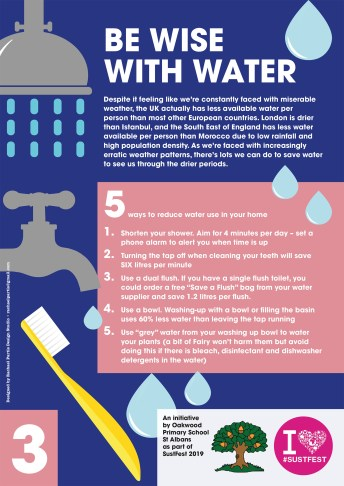 3. Be wise with water