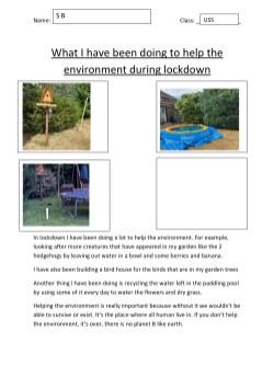 Lockdown competition - Sienna age 12 my lockdown