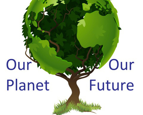 Our Planet Our Future logo with tree