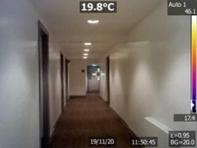 Grove House corridor - single storey area