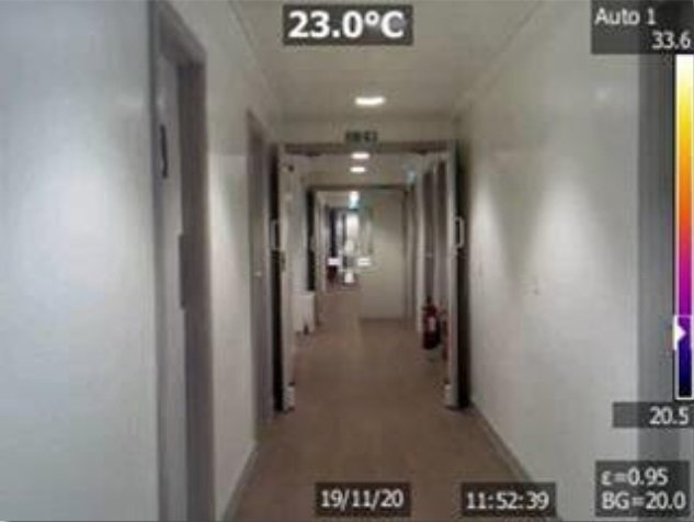 Grove House corridor - two storey area