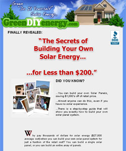 The Secrets of building your own solar energy ... for less than $200