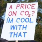 Sign: A Price on CO2? I'm cool with that.