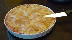 a whole rhubarb pie