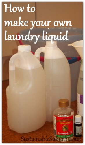 How to make your own laundry liquid | SustainableSuburbia.net