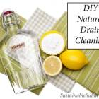 DIY Natural Drain Cleaning with vinegar, lemons and bicarb soda
