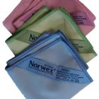 Fabulous suede microfibre Norwex Makeup Removal Cloths in purple, green and blue