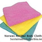 Norwex AntiBac Body Cloths in pink, yellow and green | SustainableSuburbia.net