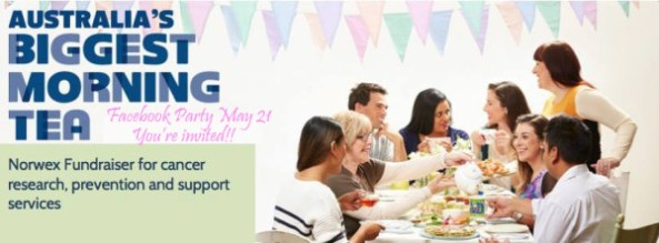Biggest Morning Tea Norwex Fundraiser for the Cancer Council May 21