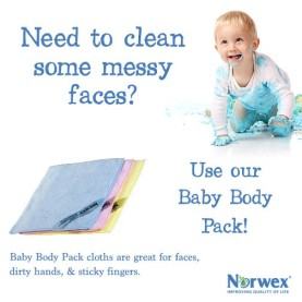 baby body pack cloths are great for faces, dirty hands, and stick finger