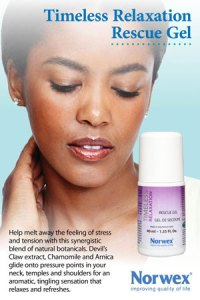 Timeless Relaxation Rescue Gel by Norwex. Help melt away stress and tension with a synergistic blend of natural and organic botanicals