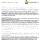 Unsafe product fact sheet from ConsumerSafety.org | SustainableSuburbia.net