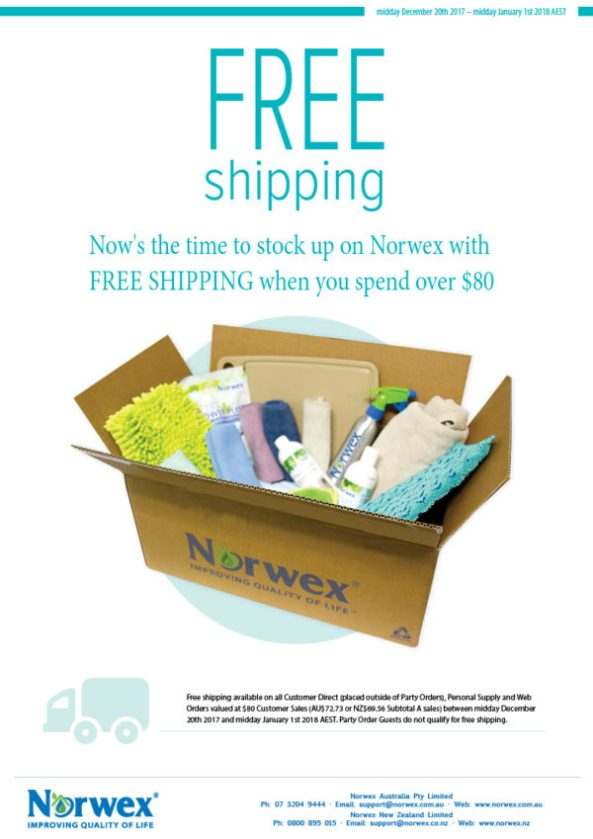 Free shipping with Norwex orders over $80