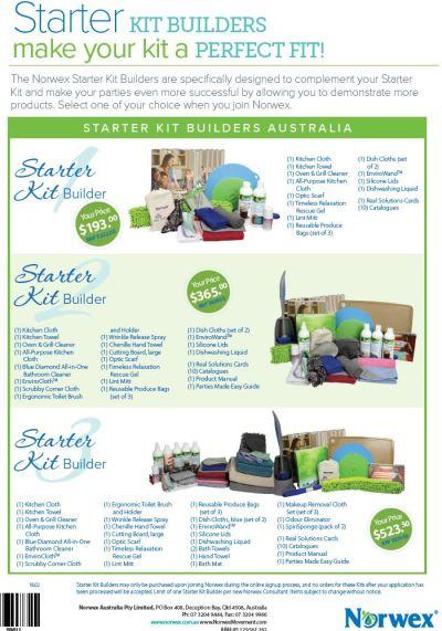 Norwex Starter Kit Builder Packs 2018 for new consultants | SustainableSuburbia.net