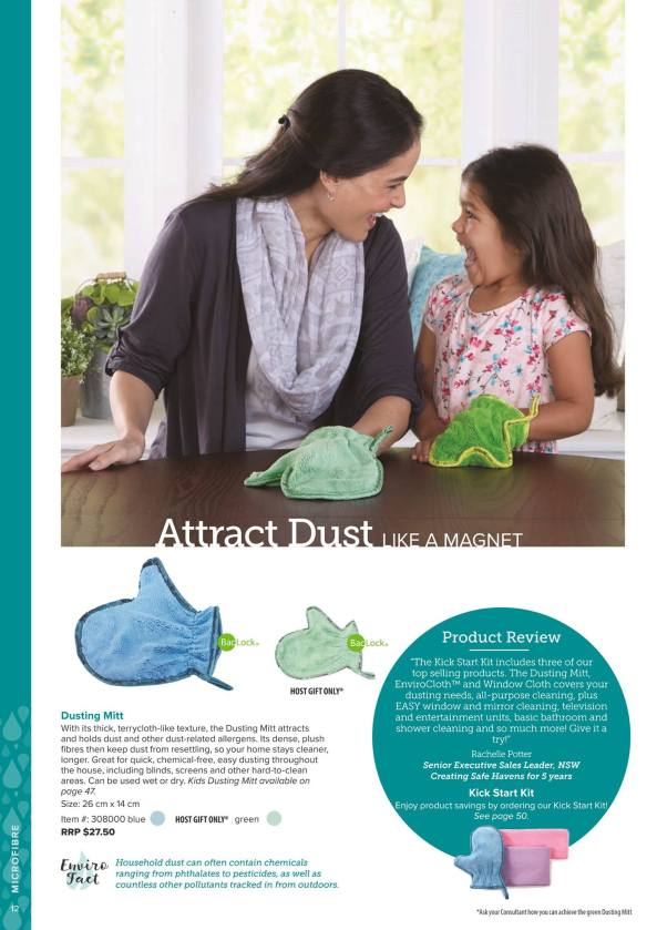 Atract Dust like a magnet with the Norwex Dusting Mitt.