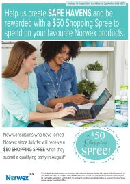 How to get a $50 shopping spree when you join Norwex in August | SustainableSuburbia.net