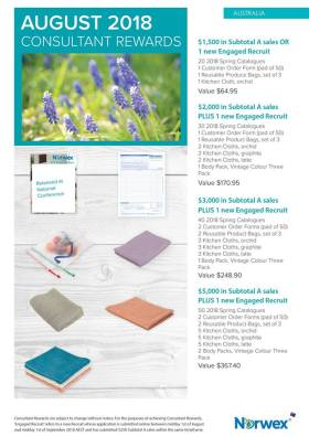 August Norwex Australian consultant sales incentives | SustainableSuburbia.net