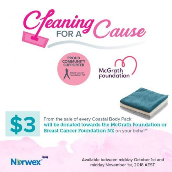 Norwex cleaning for a cause, raise money for Breast Cancer Awareness Month