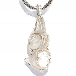 Moonstones in Sterling Silver Pendant