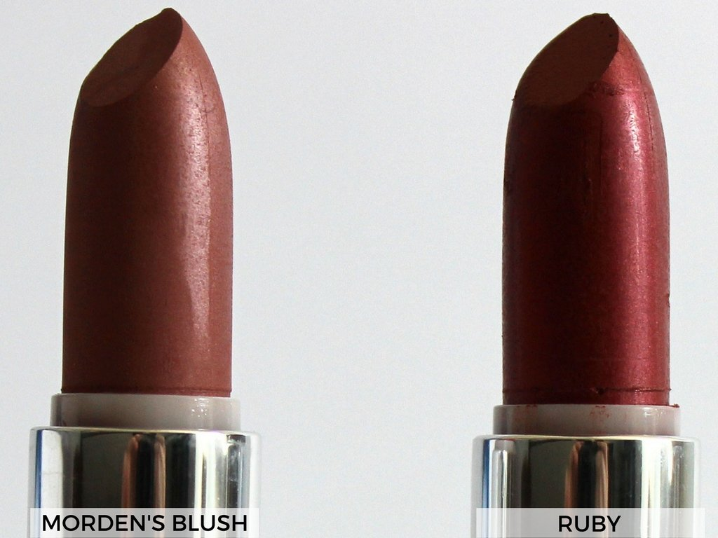Pure Anada Natural Lipsticks Ruby and Morden's Blush