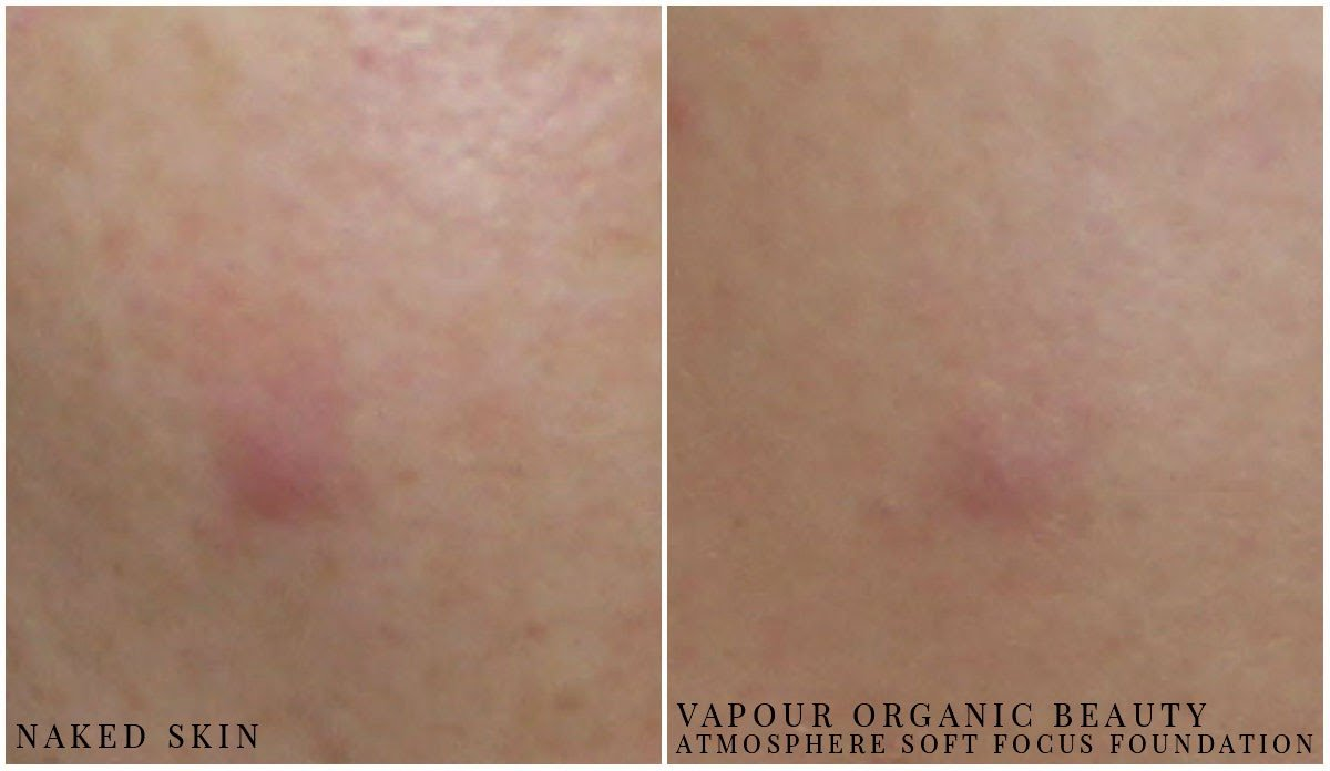 before and after vapour organic beauty foundation