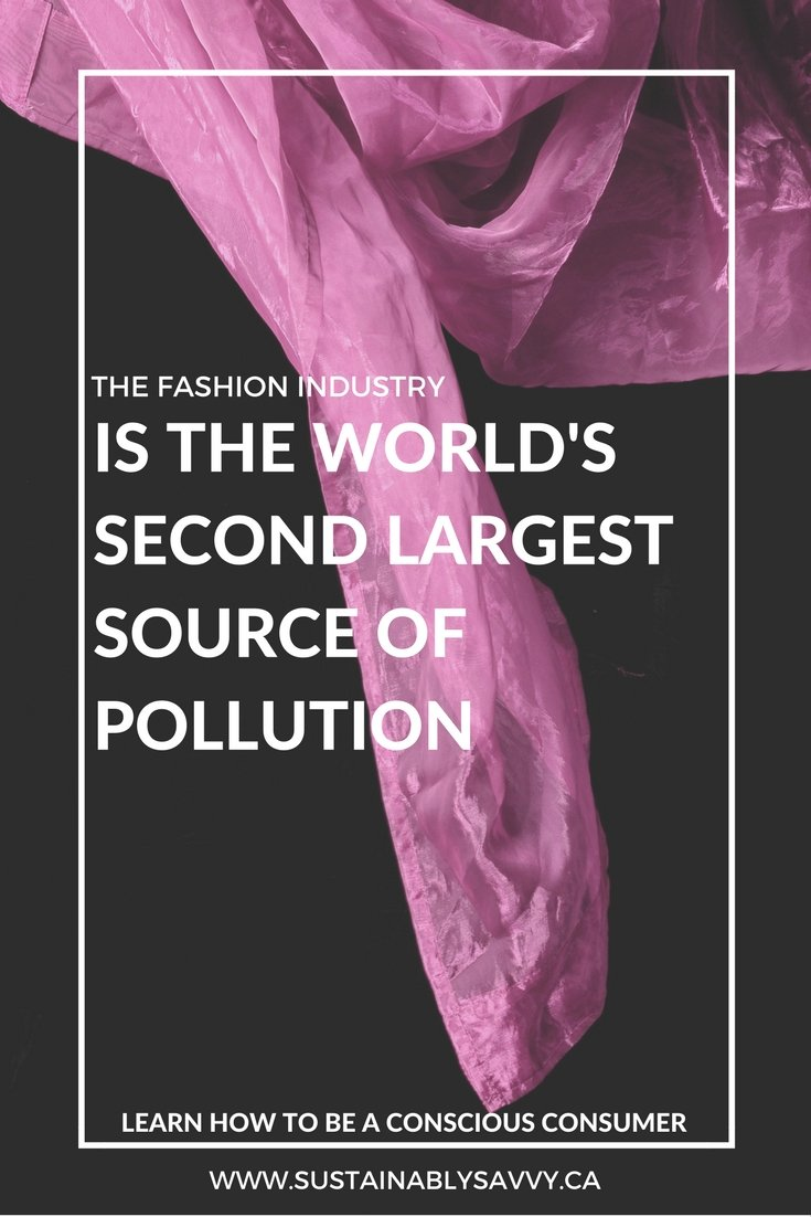 THE FASHION INDUSTRY IS THE WORLD'S SECOND LARGEST SOURCE OF POLLUTION