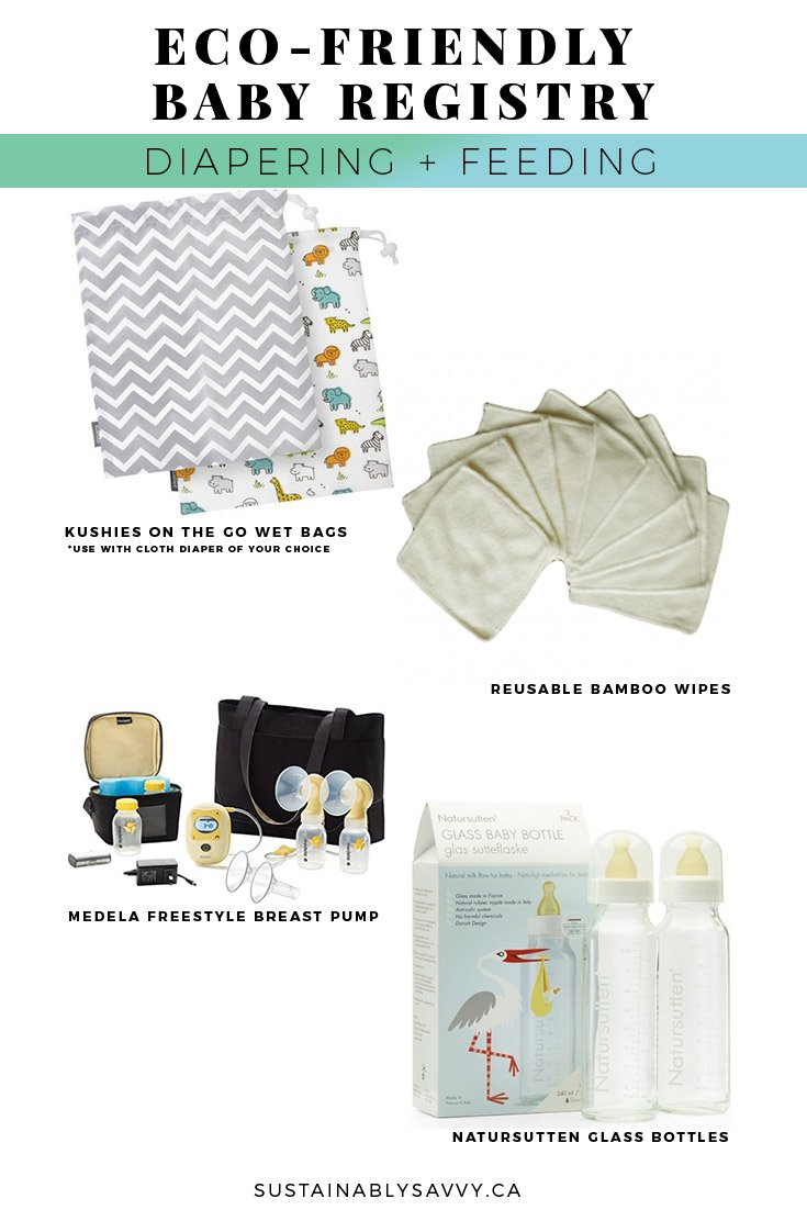 eco friendly baby registry diapering and feeding