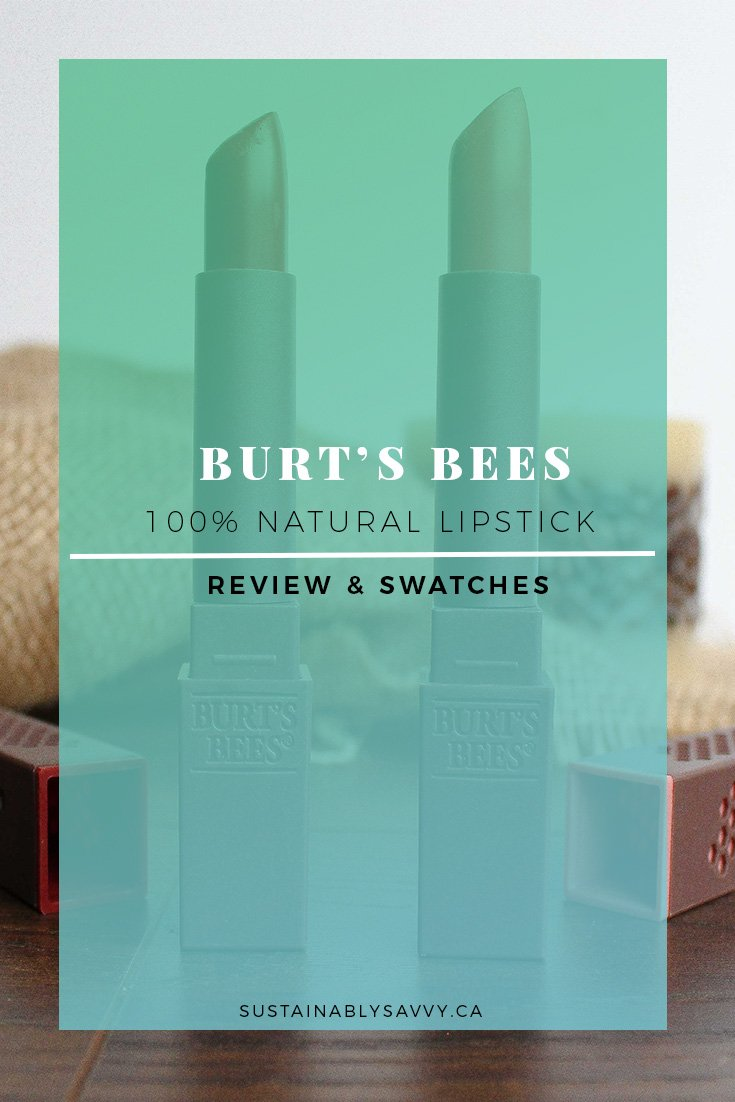 BURTS BEES NATURAL LIPSTICK REVIEW PINTEREST